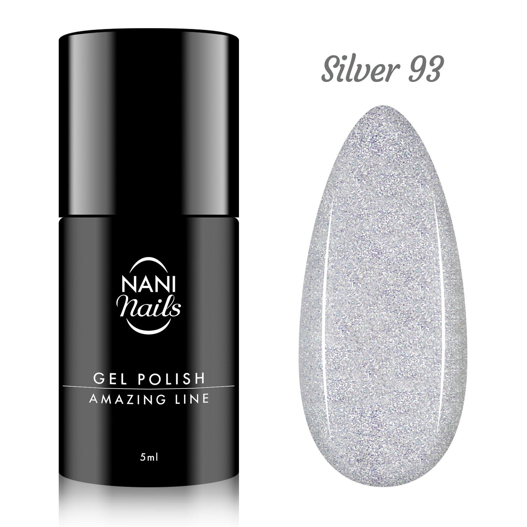 NANI gel lak Amazing Line 5 ml - Silver