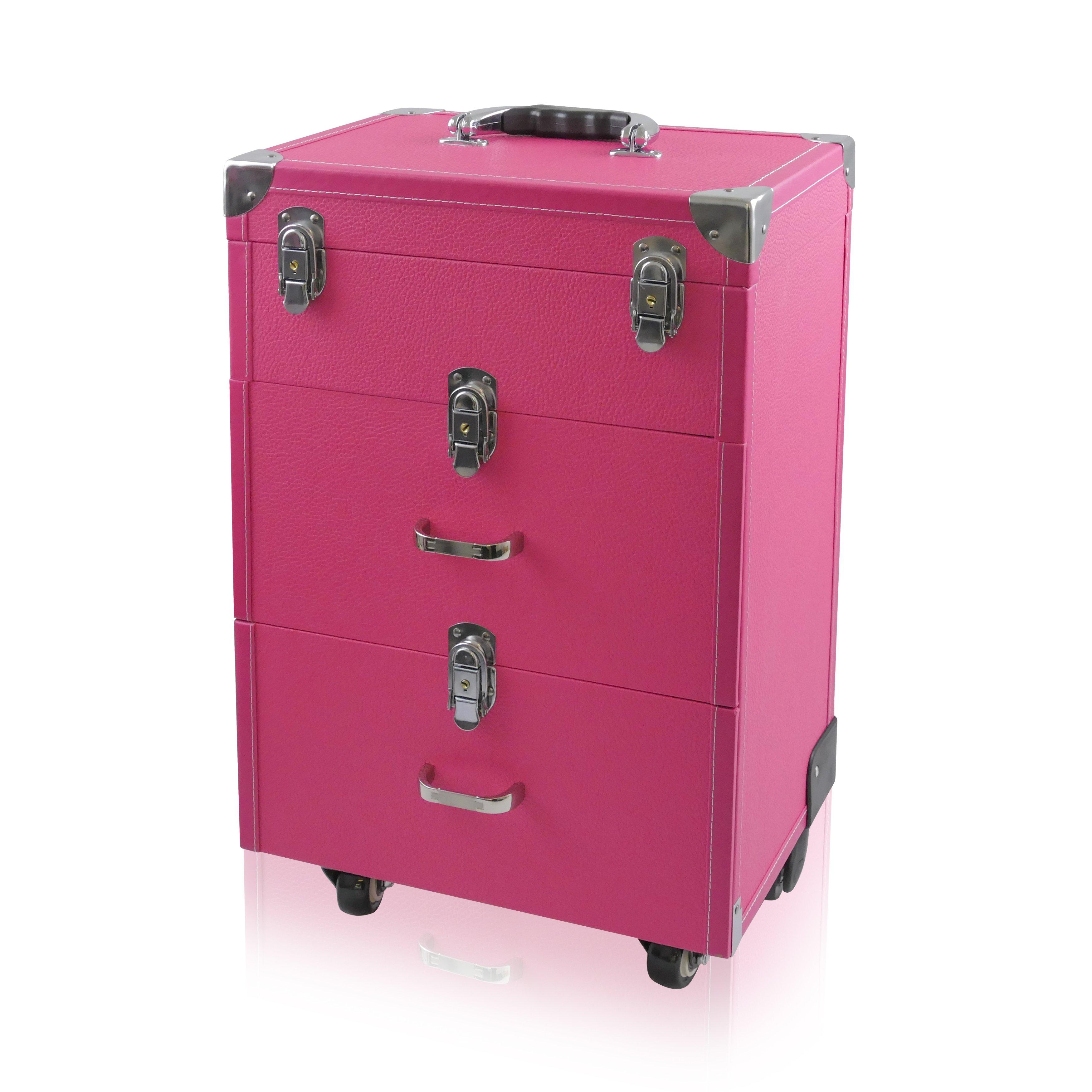 NANI kosmetický kufřík na kolečkách NN45 - Pink Skin